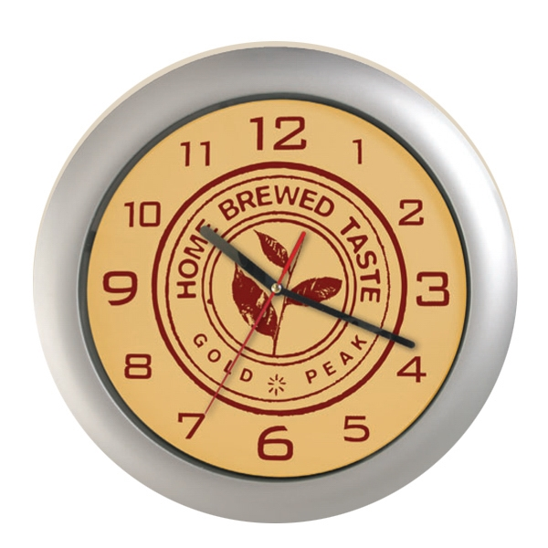 "Silver Analog Wall Clock, 12"" Photo"