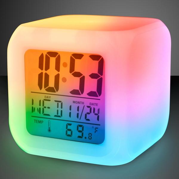 Light up color change LED digital alarm clock
