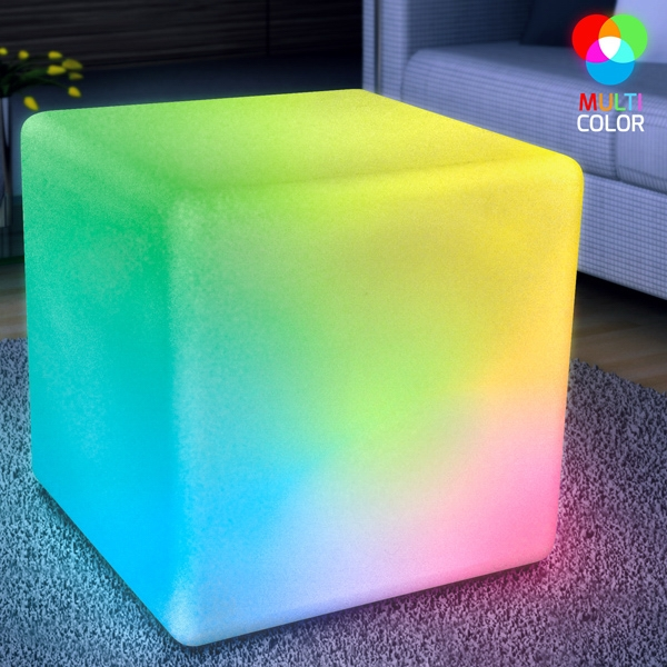 "16"" big LED cube light furniture - end table and stool"