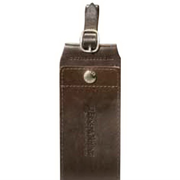 Cutter & Buck (r) - Mahogany Color, Genuine Top Grain Leather Identification Tag Photo