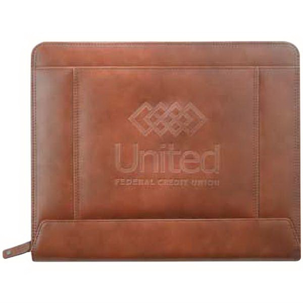 Cutter & Buck (r) - Genuine Saddle Grain Leather Zippered Padfolio Photo