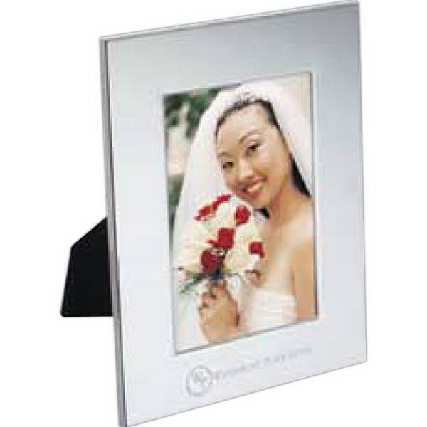 "Radiance - Silver-plated Steel Frame That Holds A 3.5"" X 5"" Photo Photo"