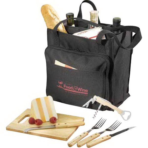 Modesto - Picnic Carrier Set, With A Tote Constructed Of 600 Denier Polyester Canvas Photo