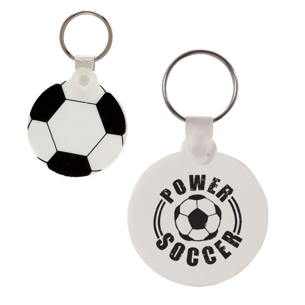 Soccer Ball Shaped Vinyl Key Fob Photo