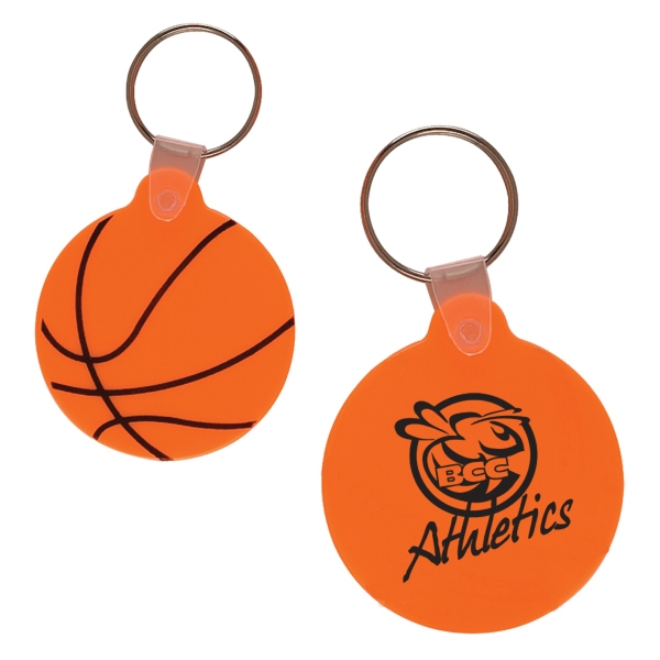 Basketball Shaped Vinyl Key Fob Photo