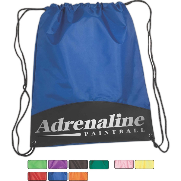 Drawstring Polyester Cinch Pack With Metal Grommets Photo