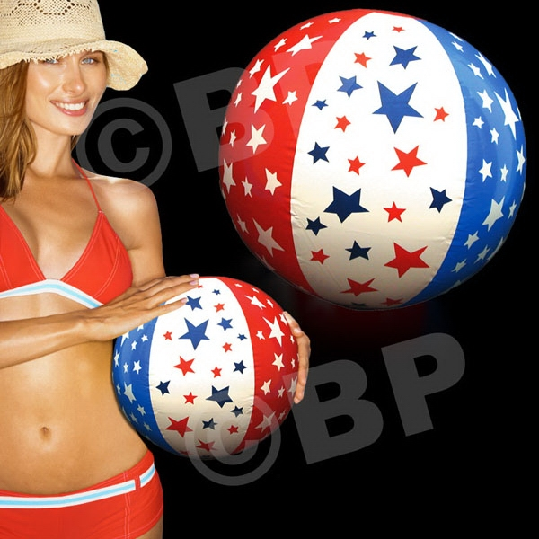 "Patriotic 16"" Inflatable Beach Ball, Blank Photo"