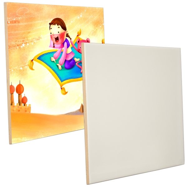 "This Ceramic Photo Tile Features The Best In Sublimation Coating, 8"" X 10"" Photo"