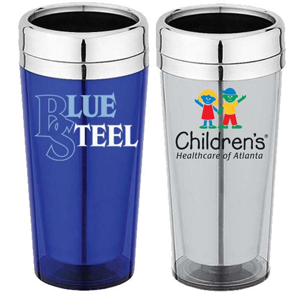 Acrylic & Stainless Steel 16 Oz. Travel Tumbler With Thumbslide Closure Lid Photo