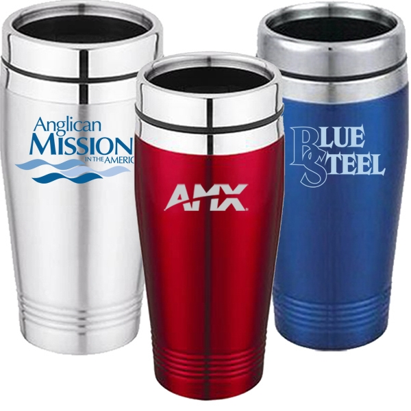 Stainless Steel 16 Oz. Travel Tumbler With Thumb Slide Lid Photo