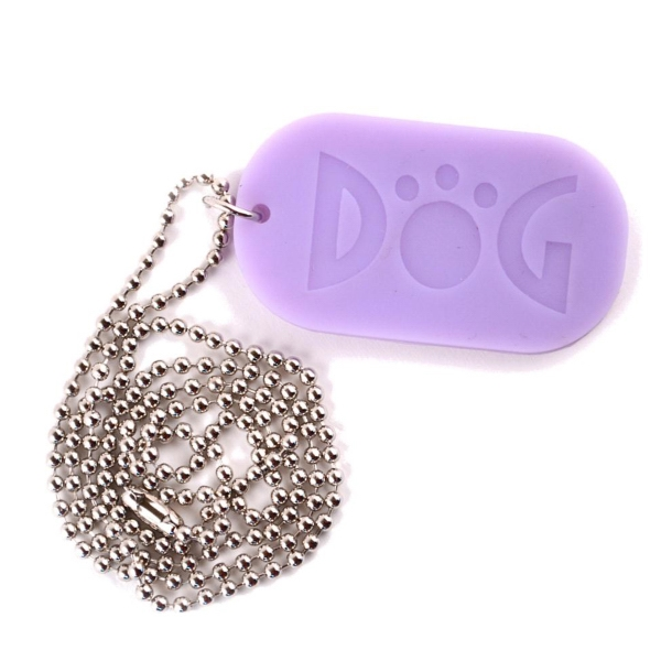 "Debossed Silicone Dog Tags With 30"" Ball Chain Photo"