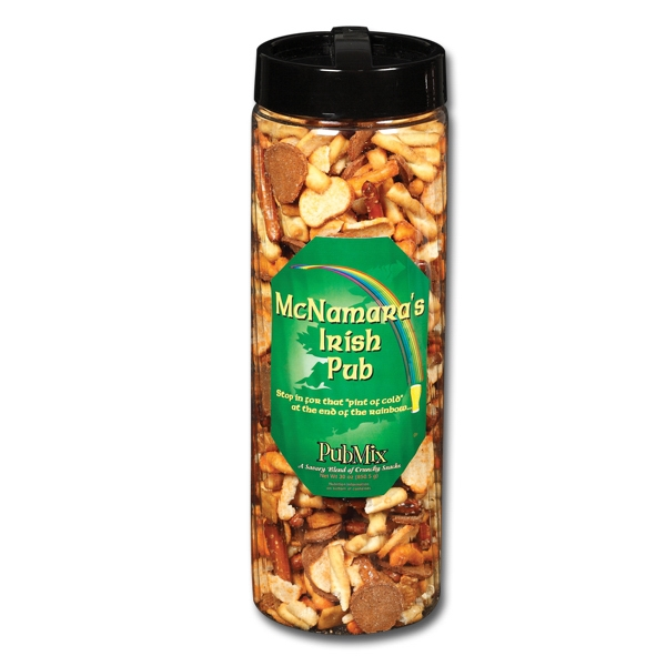Utz(r) Snack On - 30 Oz Pub Mix Snack Barrel, A Savory Blend Of Pretzels, Crackers And Chips Photo