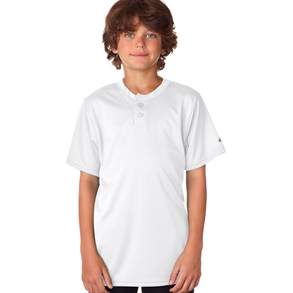 Badger Youth B-Core Henley Tee