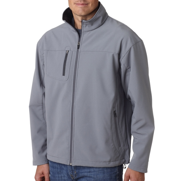 Adult Soft Shell Jacket With Cadet Collar