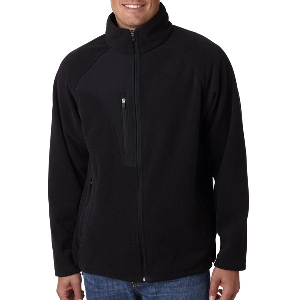 Adult Full-Zip Micro-Fleece Jacket With Pocket