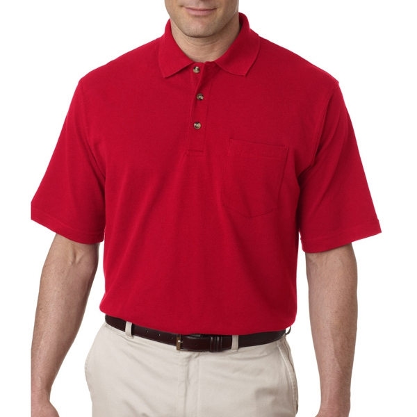 Adult Classic Pique Polo With Pocket