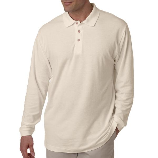 Adult Long-Sleeve Whisper Pique Polo
