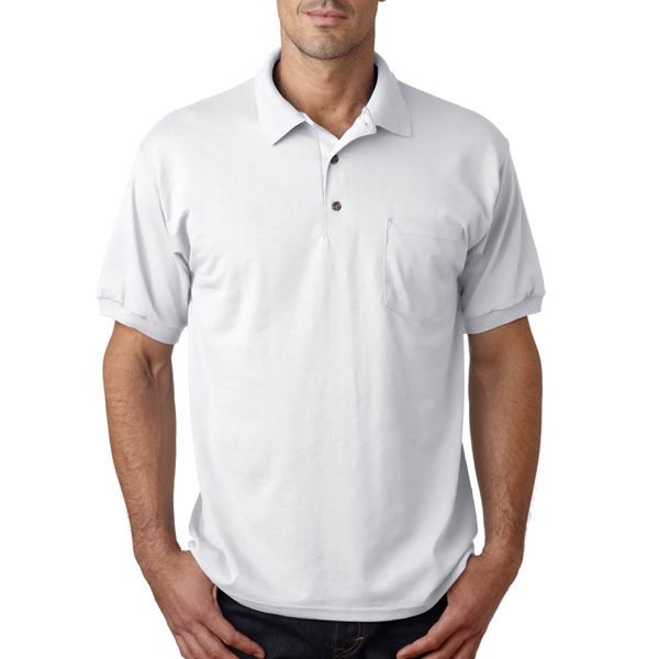 Adult Gildan Dryblend(TM) Jersey Polo With Pocket
