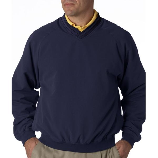 Adult Long-Sleeve Microfiber Cross-Over V-Neck Windshirt