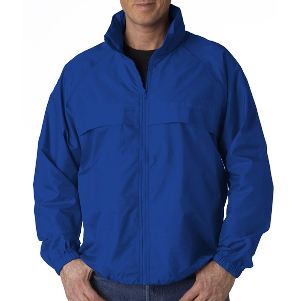 Adult Hooded Zip-Front Pack-Away Jacket