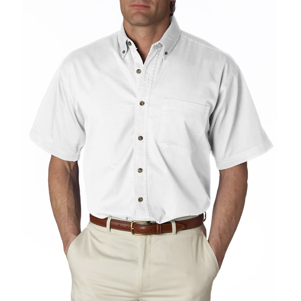 Adult Cypress Colors Short-Sleeve Woven With Pocket