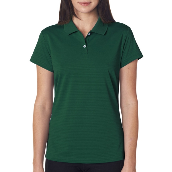 Adidas Ladies ClimaLite Textured Solid Polo