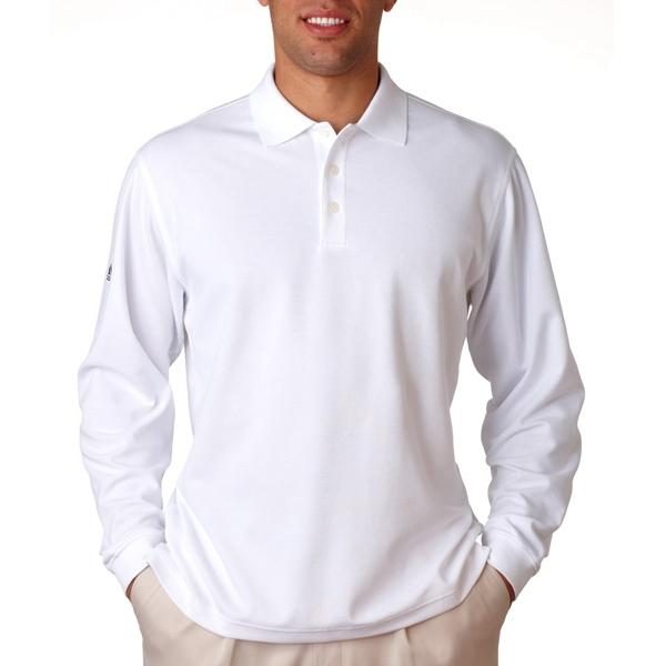 Adidas ClimaLite Pique Long-Sleeve Polo