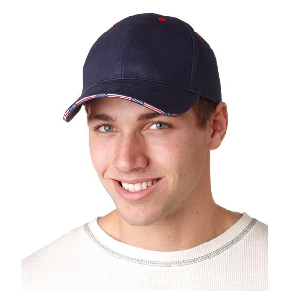 Adams Brushed Cotton Twill Patriot Cap