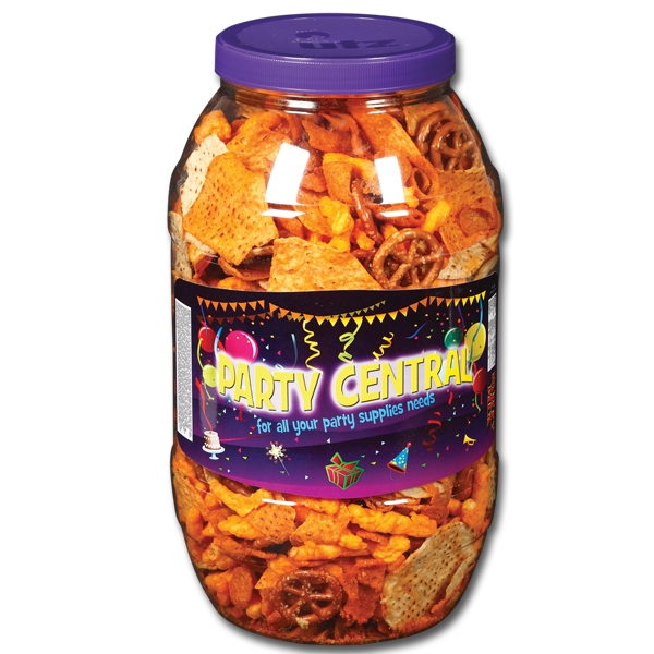 Utz(r) Snack On - 30 Oz Party Mix Snack Barrel, A Delicious Blend Of Chips, Cheese Curls And Pretzels Photo