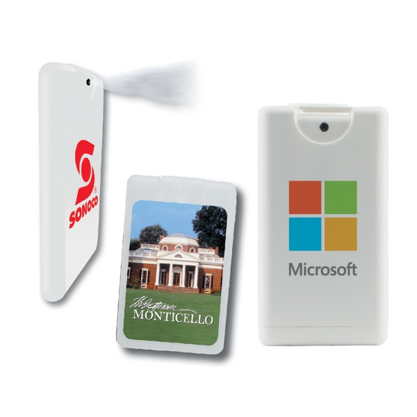 Hand Sanitizer Heros - Clear - Credit Card Hand Sanitizer Sprayer. Antibacterial Hand Sanitizer Credit Card Sprayer Photo