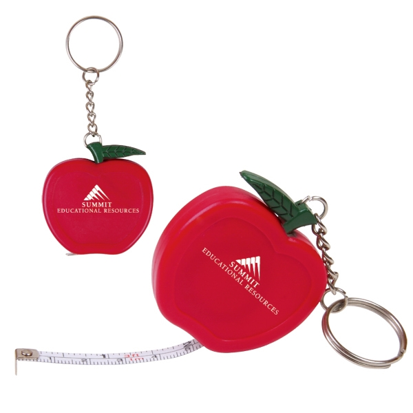 Apple Shaped Key Holder With 3 Foot Long Tape Measure Photo