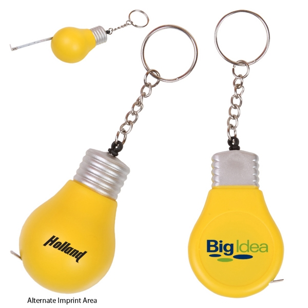 Light Bulb Shaped Key Holder With 3 Foot Long Tape Measure Photo