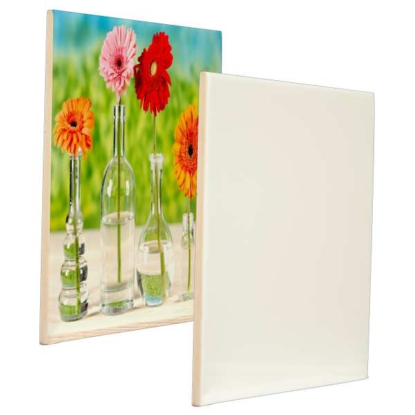 "This Ceramic Photo Tile Features The Best In Sublimation Coating, 8"" X 8"" Photo"