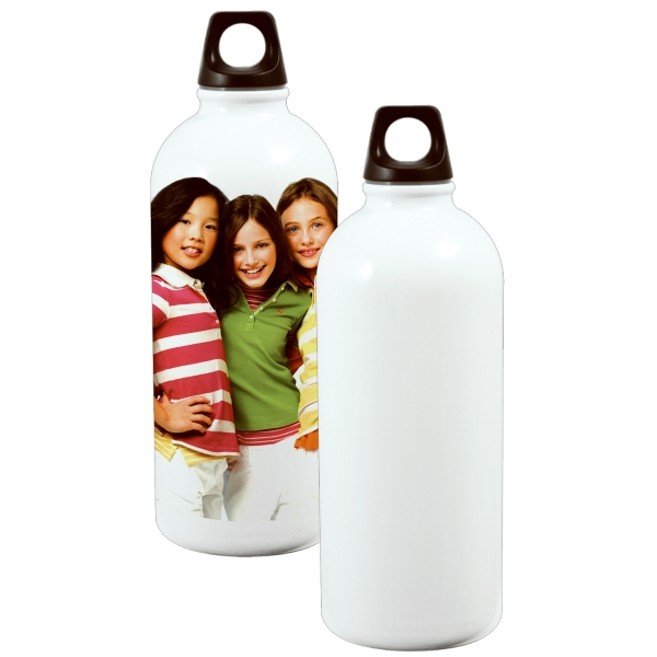 600ml Stainless Steel Bottle - Round Bottom - White Photo