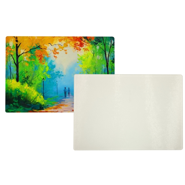 "Glass Cutting Board, 8"" X 11"" Rectangle Photo"