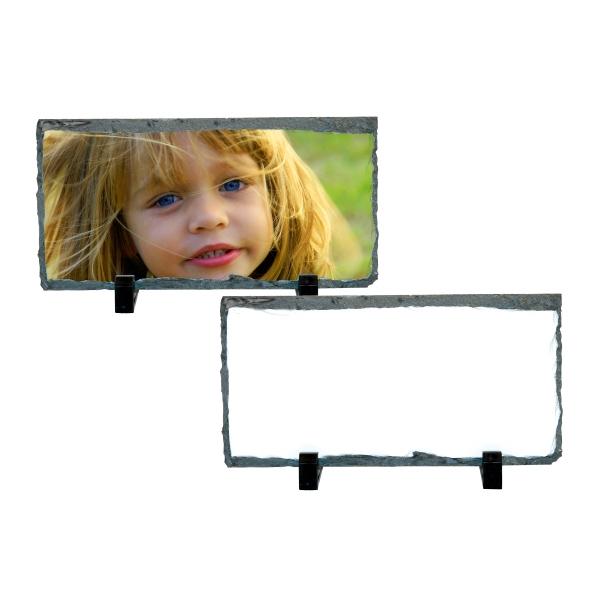 "Small Rectangle Sublimation Photo Slate, 8.58"" X 4.68"" Photo"