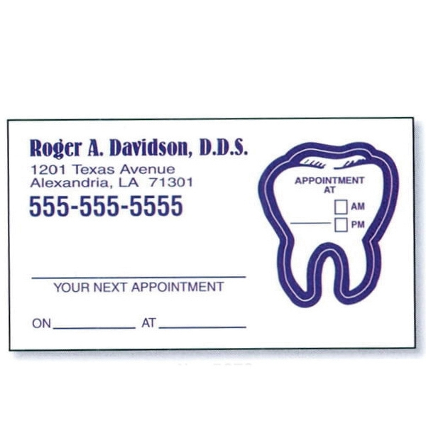 "3 1/2"" X 2"" 4-color Process Printed Appointment Card With Removable Label Photo"