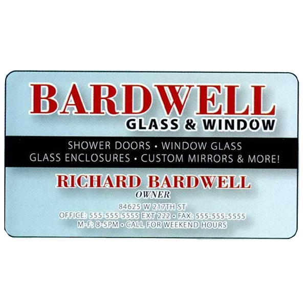 "One Side - Overlaminated Deluxe Clear .020"" Thick Specialty Business Card With Plastic Core Photo"