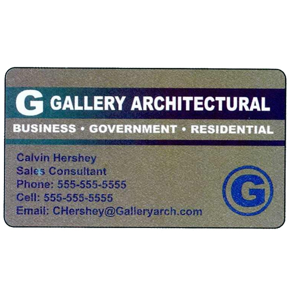 "One Side - Overlaminated Deluxe Silver .020"" Thick Specialty Business Card With Plastic Core Photo"