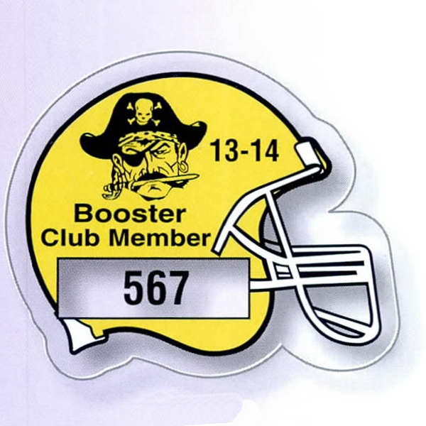 "2 3/4"" X 2 1/8"" Football Helmet Clear Static Stick Die-cut Parking Permit Photo"