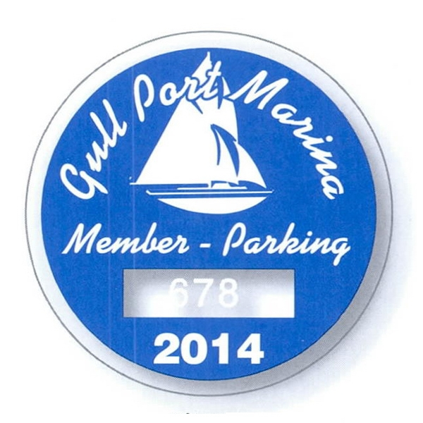 "2 3/4"" Diameter Circle Clear Static Stick Die-cut Parking Permit Photo"