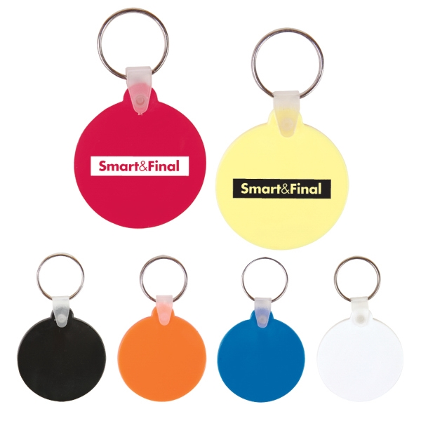 Round Soft-touch Vinyl Key Fob With Metal Split Ring Photo