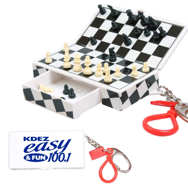 Keychain With Travel Chess Game Photo