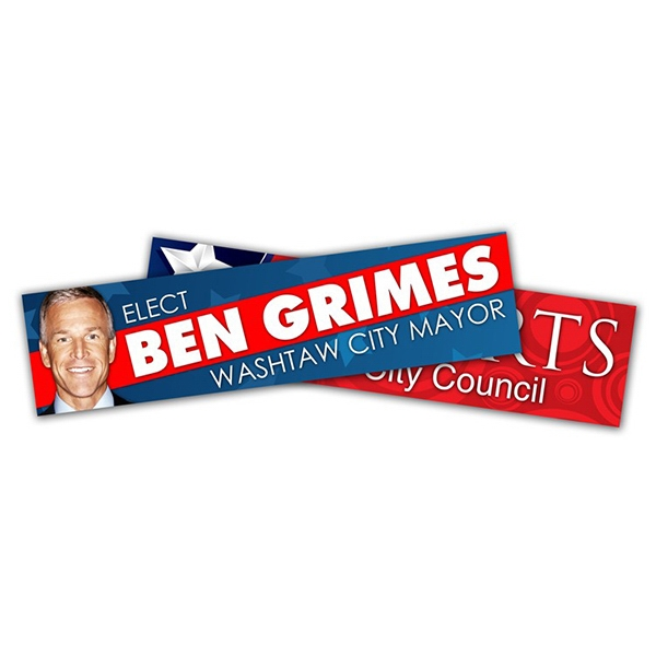 Political Campaign Bumper Sticker - Vinyl Uv Coated (10.5 X 2.625) Photo