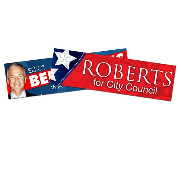 Political Campaign Bumper Sticker - Vinyl Uv Coated (8.625 X 2.5) Photo