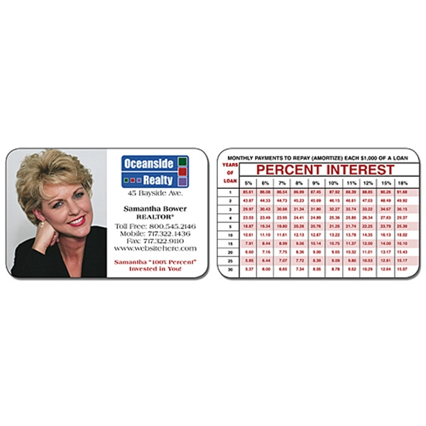 Real Estate Laminated Wallet Card - 3.5 X 2.25 (2-sided). Keep Your Message Handy! Photo