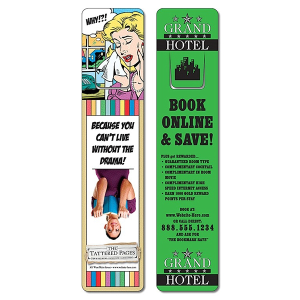 Plastic Bookmark - 1.75 X 8 Uv-coated (1s) With Page Holder - 10 Pt Photo
