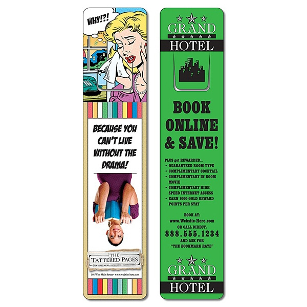 Plastic Bookmark - 1.75 X 8 Extra-thick Uv-coated (1s) With Page Holder - 14 Pt Photo