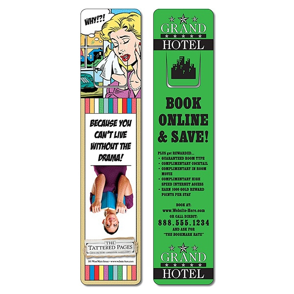 Bookmark - 1.75 X 8 Uv-coated (1s) With Page Holder - 10 Pt Photo