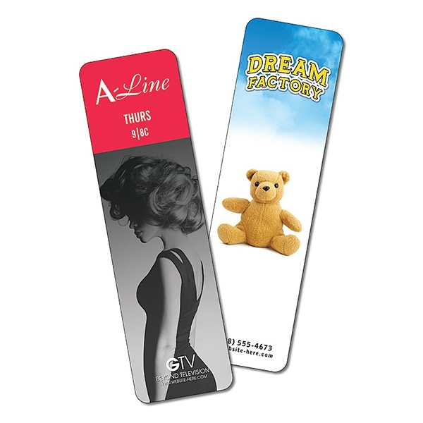 Plastic Bookmark - 2 X 7 Laminated - 14 Pt Photo